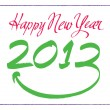 Vector de stock : Happy New Year - 2013Tag Happy New Year Year 2013 xmas celebrate new year Happy New Year New Brush Ink Concept Christmas Happy Coming Next Event Date Event Calendar Celebration Holiday Party Greeting