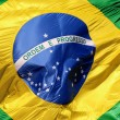 Brazilian flag - close-up — Stock Photo