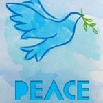 鸽子-和平的象征 — 图库照片