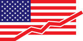 American Flag - Growth — Stock Vector