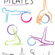 Pilates class - color vector — Stock Vector #28575419