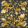 图库照片: Abstract hohlompattern background