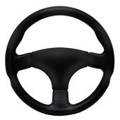 Steering wheel isolated on a white background — Stock Photo