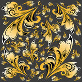 Abstract hohloma pattern background — Stok fotoğraf