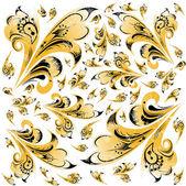 抽象的な hohloma パターン背景 — ストック写真