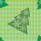 新年のツリー — ストックベクタ