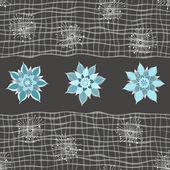Textura sem costura floral ornamentada, infinita padrão com flores — Vetor de Stock