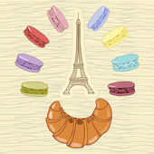 French sweets — Stock Vector