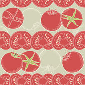 Seamless tomato background. Vector — Stock Vector