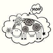 Kreslený kráva — Stock vektor