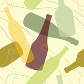 Seamless background with bottles — Stock Vector
