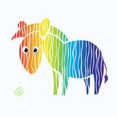 Zebra - rainbow — Stock Vector