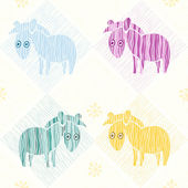 Seamless texture con zebre divertente — Vettoriale Stock