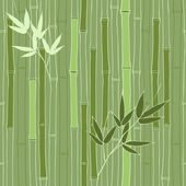 Seamless green bamboo pattern — Stock Vector