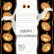 Halloween greeting card with place for text — 图库矢量图片
