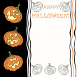 Halloween greeting card with place for text — ストックベクタ