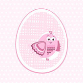 Illustration for newborn girls — Stockvector
