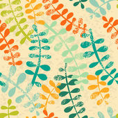 Vector seamless pattern with multicolored branches — 图库矢量图片