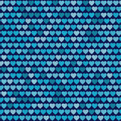Vector seamless pattern with hearts. — Stock vektor