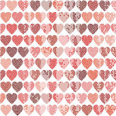 Vector seamless pattern with hearts on a white background — Vecteur