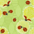 Seamless pattern with ladybugs. — Stock Vector #50388891