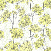 Seamless pattern of abstract flowers. — Stock Vector