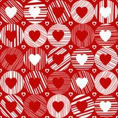 心とのシームレスなパターン. — ストックベクタ