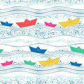 Paper ships — Stock Vector