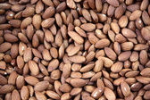 Tasty almond nuts, close up — Stock Photo