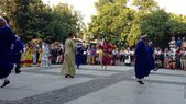 Folkloric dance groups — Stock Photo