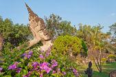 Reclining Buddha in Buddha Park. Vientiane. Laos. — Stock Photo