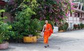 Laos buddhist monk. Vientiane. Laos. — Stock Photo