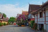 Wat Sisaket temple courtyard. Vientiane. Laos — Stock Photo