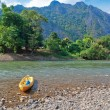 Nam Song River. Vang Vieng. Laos — Stock Photo