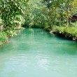 Blue lagoon in Vang Vieng. Laos. — Stock Photo