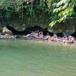 Tham Nam (Water Cave). Vang Vieng. Laos. — Stock Photo #22181041