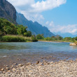 Nam Song River. Vang Vieng. Laos - Stock Photo