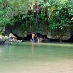 Tham Nam (Water Cave). Vang Vieng. Laos. — Stock Photo #22181049