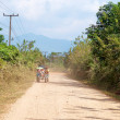 On a rural road. Vang Vieng. Laos. — Foto de Stock