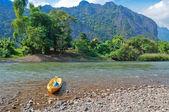 Nam Song River. Vang Vieng. Laos — Stock Photo