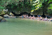 Tham Nam (Water Cave). Vang Vieng. Laos. — Stock Photo