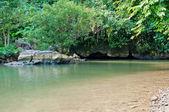 Tham Nam (Water Cave). Vang Vieng. Laos. — Stock Photo