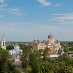 Holy Cross Cathedral Man's Piously-Nikolaev monastery. Verkhotu — Stock Photo