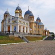 Holy Cross Cathedral Man's Piously-Nikolaev monastery. Verkhotu — Stock Photo