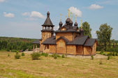 Wooden church of All Saints of Siberia. Verkhoturie. Russia. — Stock Photo