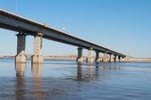 Highway bridge over river — Stock Photo