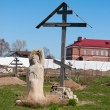 Cemetery at Sviazhsky Uspensky Monastery. Sviyazhsk island. — Stock Photo #25844427