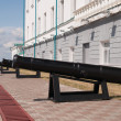 Cannons cast in Ural factories in Tobolsk Kremlin. Siber — Stock Photo #31113379
