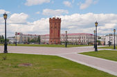 Remizov square and water tower. Tobolsk. Russia — Stock Photo