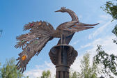 Monument Firebird from a fairy tale. Tobolsk. Russia — Stock Photo
